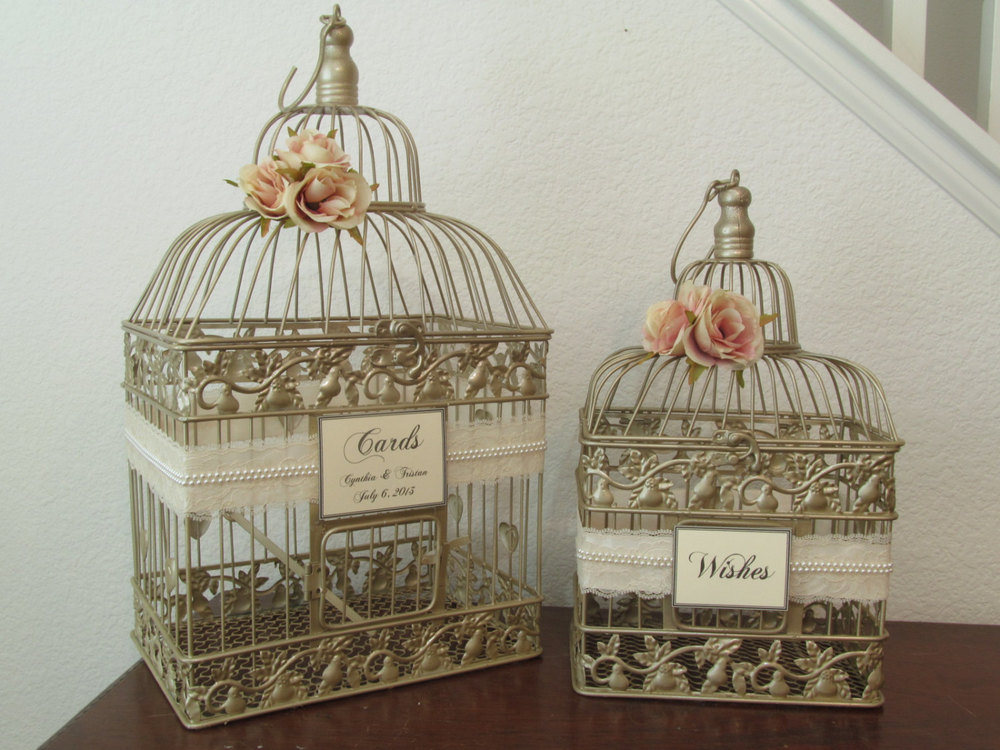 Wedding Birdcage For Cards Wedding Card Birdcage Awesome Champagne