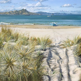 Summer Magic Mercury Bay- unframed $325 Measures 430mm w x 440mm h