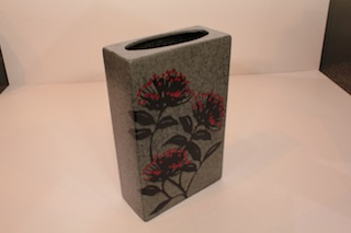 Pacific Pottery Square Pohutakawa vase (on order)