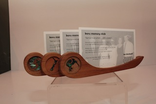 Ian Blackwell Kauri and Paua Memory Sticks $31 - 205mm x 50mm..JPG