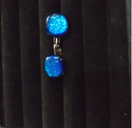 Dichroic Clip on earrings available in several colours