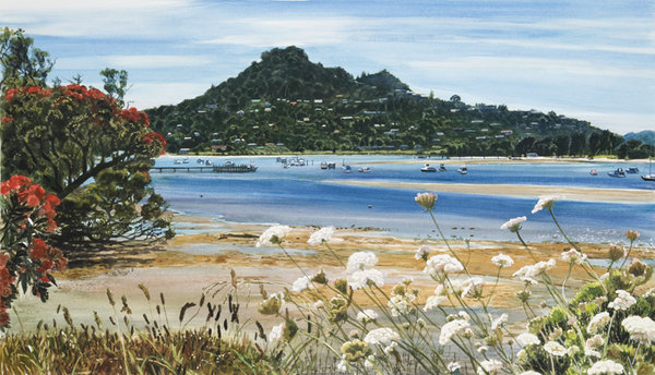 Tairua in December $359 Measures 680mm w x 435mm h