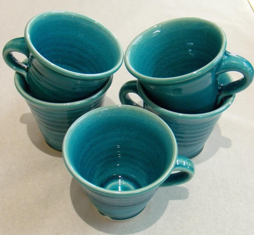 Classic Turquoise Mugs $25 Measure 95 mm diameter x 85 mm h
