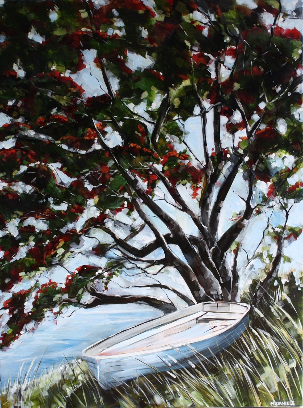 Pohutukawa Shade $2950 Measures 920 mm w x 1220 mm h