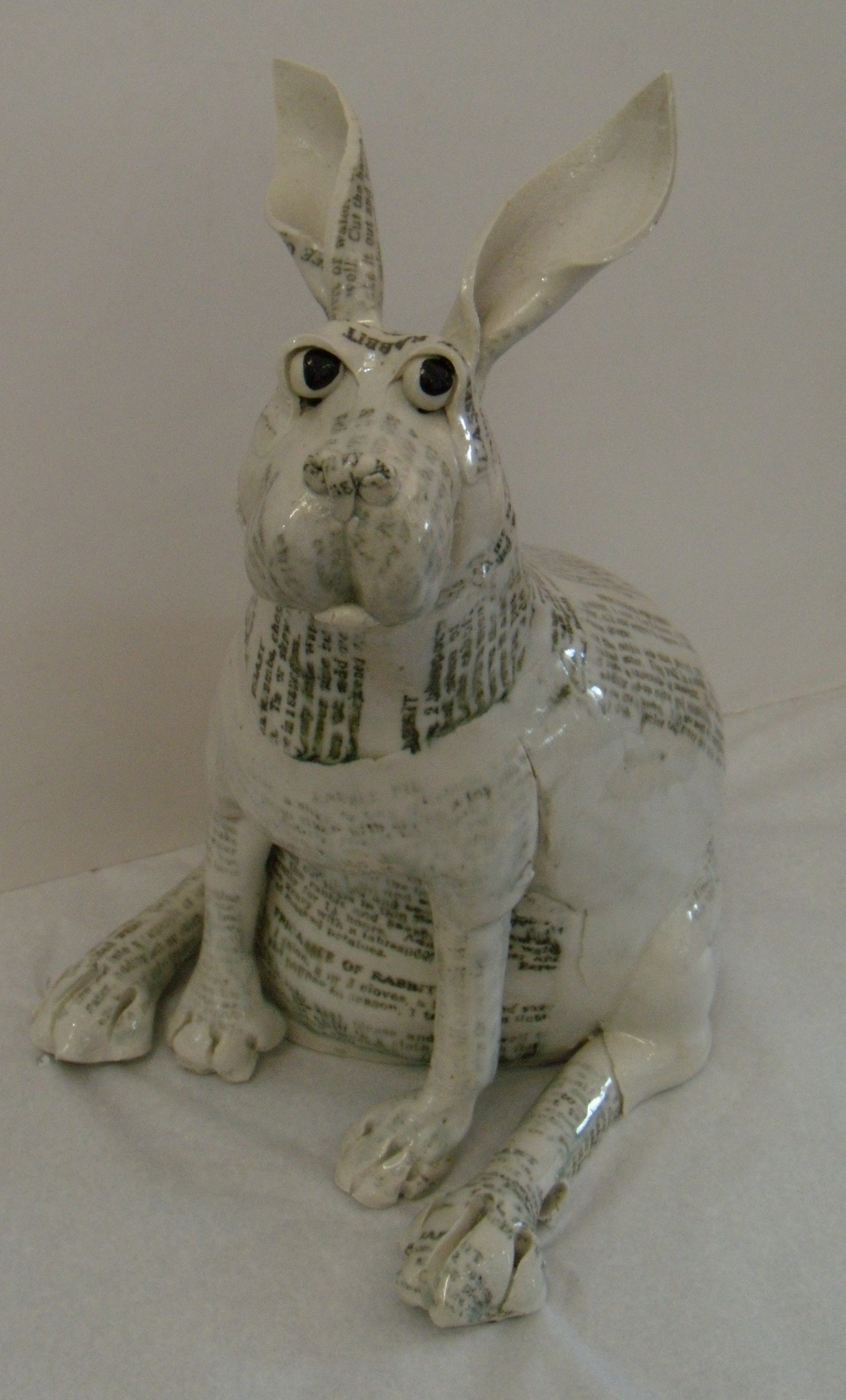 Medium Printed Rabbit $260 Measures approx 300 mm w x 330 mm h