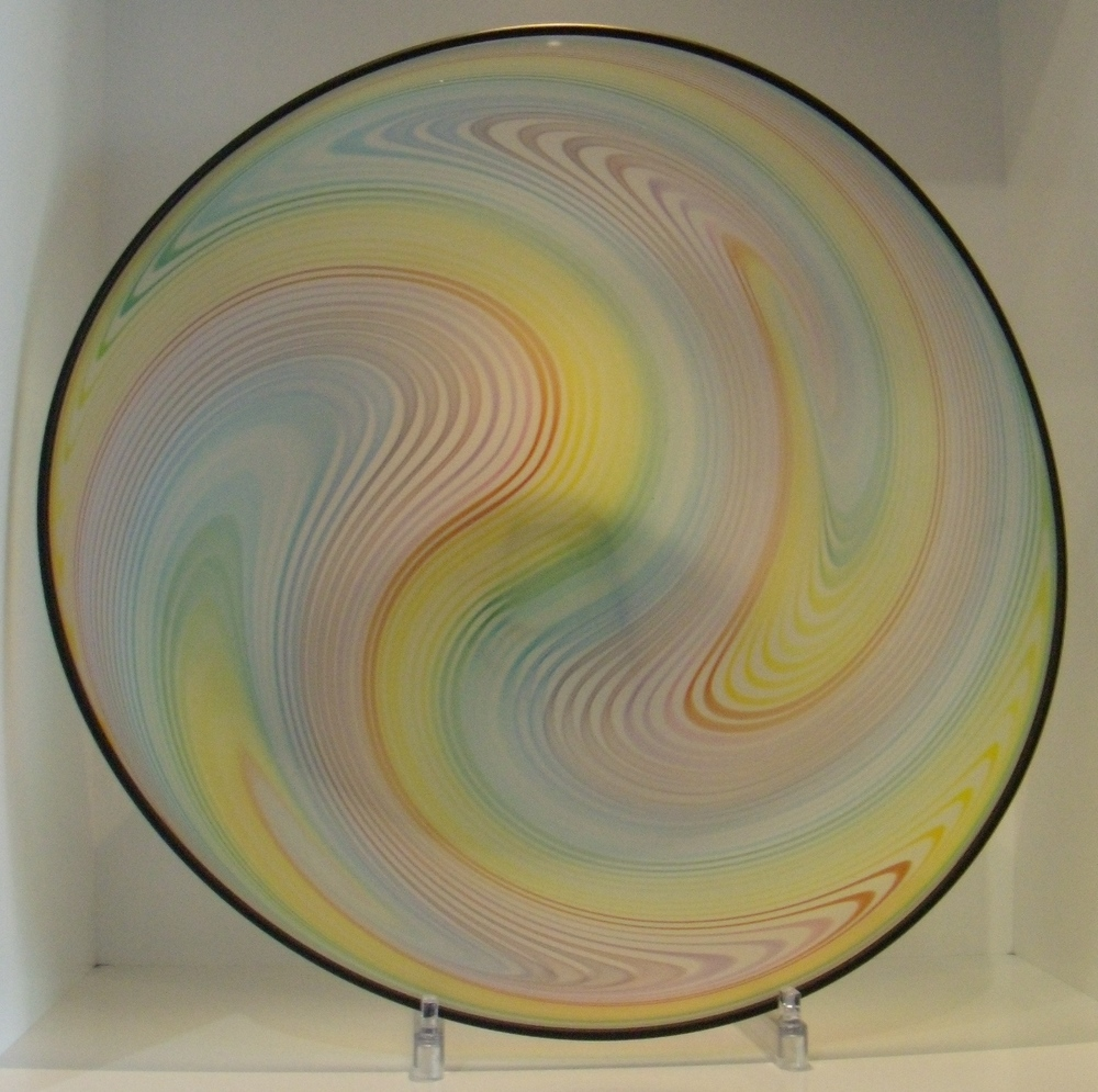 Etched Rainbow Swirl Bowl $433 Measures 345 mm diameter x133 mm deep