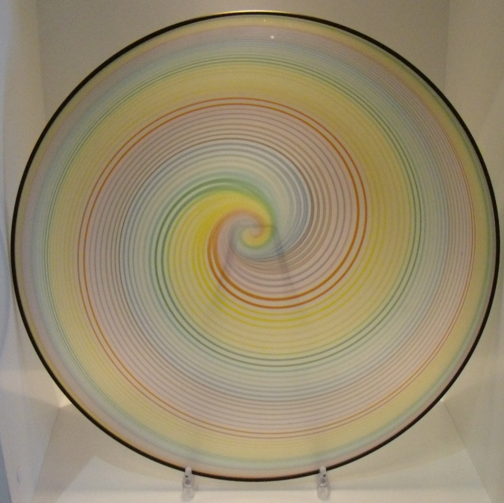 Etched Koru Rainbow Bowl $433 Measures 375 mm diameter x 120 mm deep