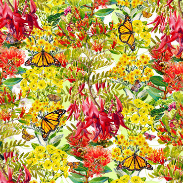Jewelled Monarchs $615 Framed size 800 mm w x 830 mm h