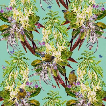 Bellbirds and Kakabeak $615 Framed size 800 mm w x 830 mm h