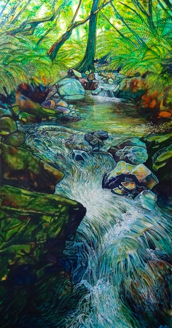 Glen and Richelle have selected this beautiful painting by John Ruth.  $2850.00     heritagegallery.co.nz  phone 078274346