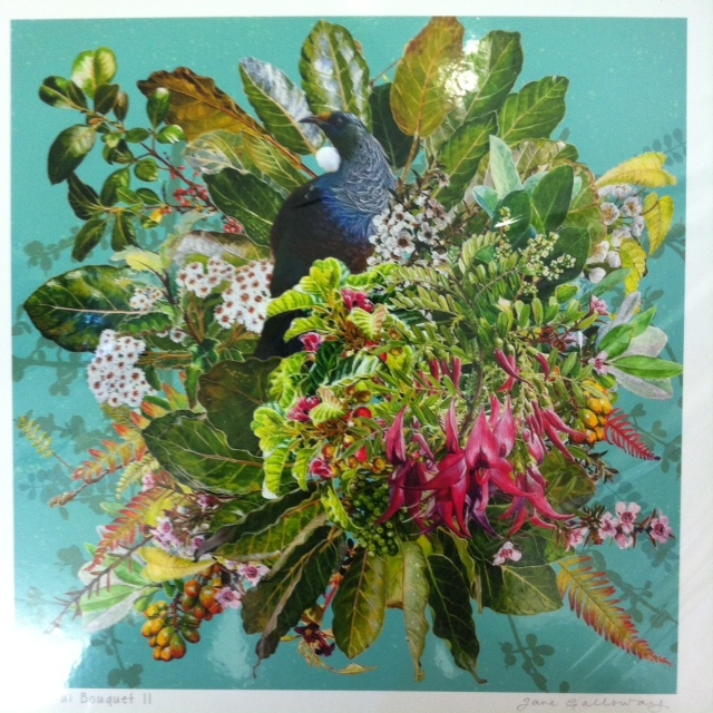 Tui Bouquet is a stunning print from Jane Galloway  $669