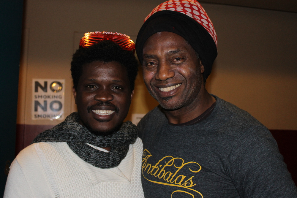 Laolu with Amayo from Antibalas Afrobeat Orchestra (New Year's Day 2014)