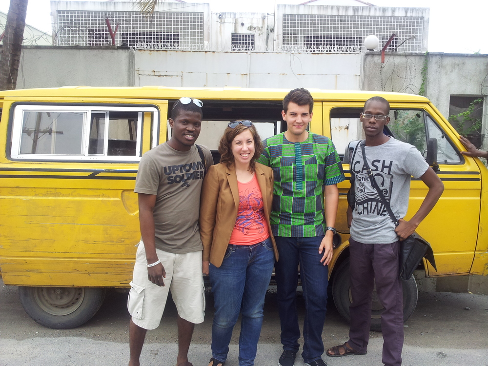 Laolu with the Afromysteric's Team in Lagos, Nigeria in June 2012.  (Kate, Nico and Osi)