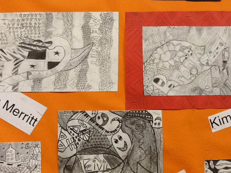 A closer look at some of the drawings.