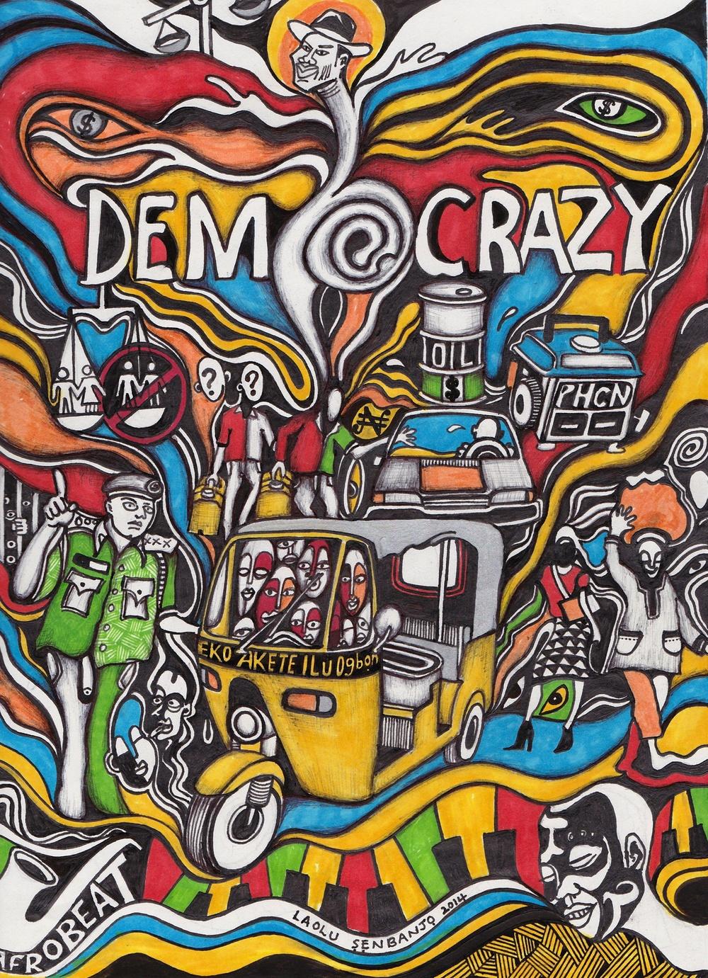 DEMOCRAZY by Laolu Senbanjo