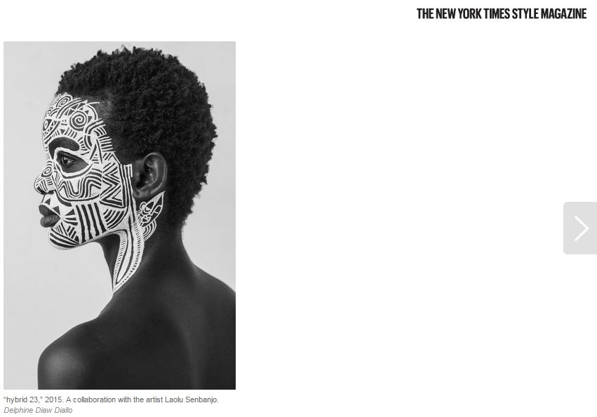 body art by laolu senbanjo image by delphine diallo