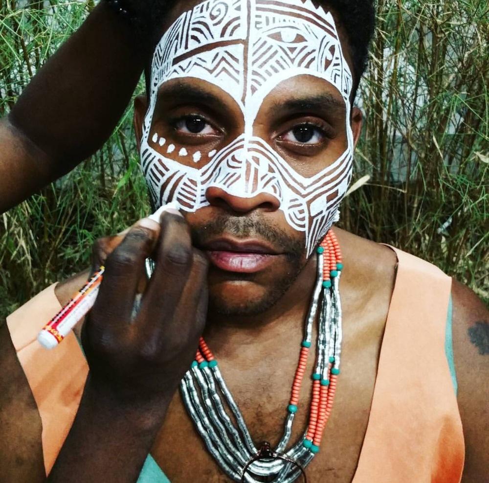 Yoruba Ritual Face Painting by Laolu featuring DapperAfrika