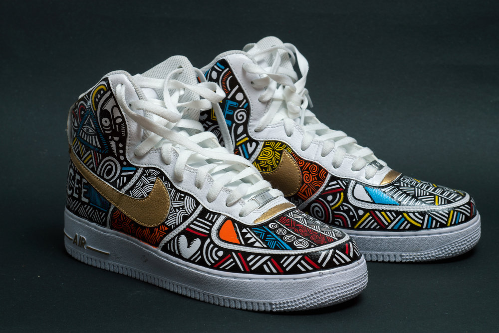 Details zu Custom Nike Air Force 1 Airbrush Shoes Sneaker Graffiti style Schuhe painted ny