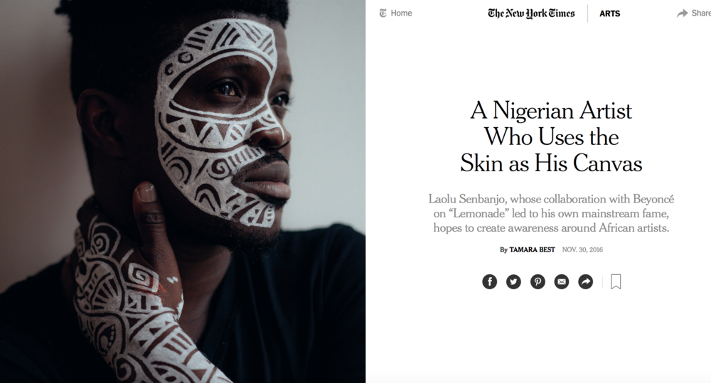 Laolu New York Times Art