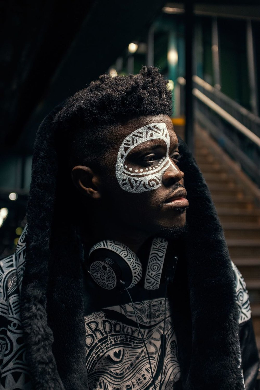 Laolu adorned in his Sacred Art of the Ori Creation.  photo by Muhammad Atta Ahmed Since1982
