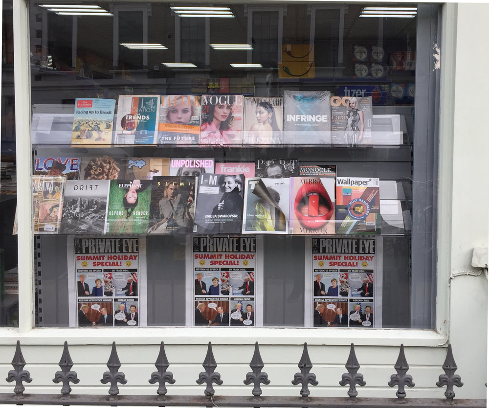 TAKE OVER SHOP WINDOWS ACROSS CENTRAL LONDON We can help you launch a new title or celebrate a special issue with window displays in multiple prominent locations across Central London.