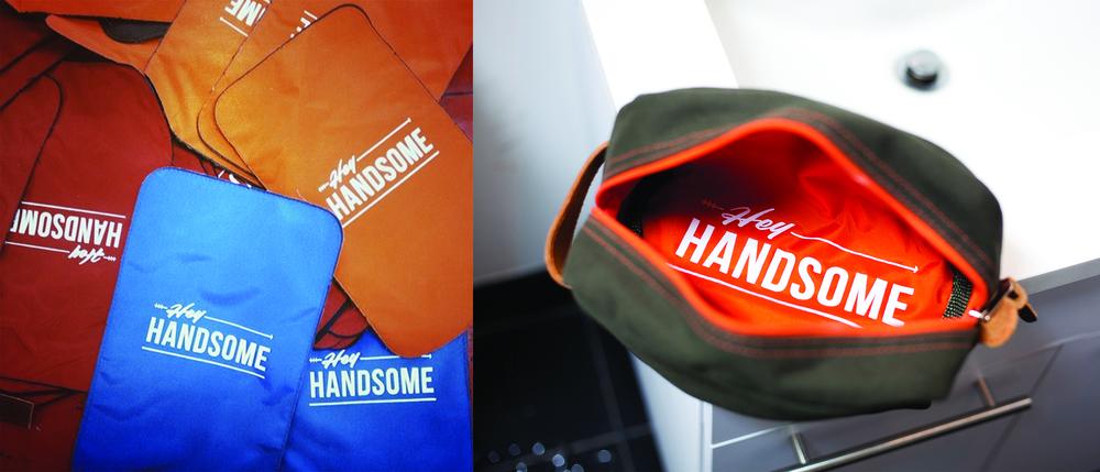 Hey Handsome Shaving Kit Bag