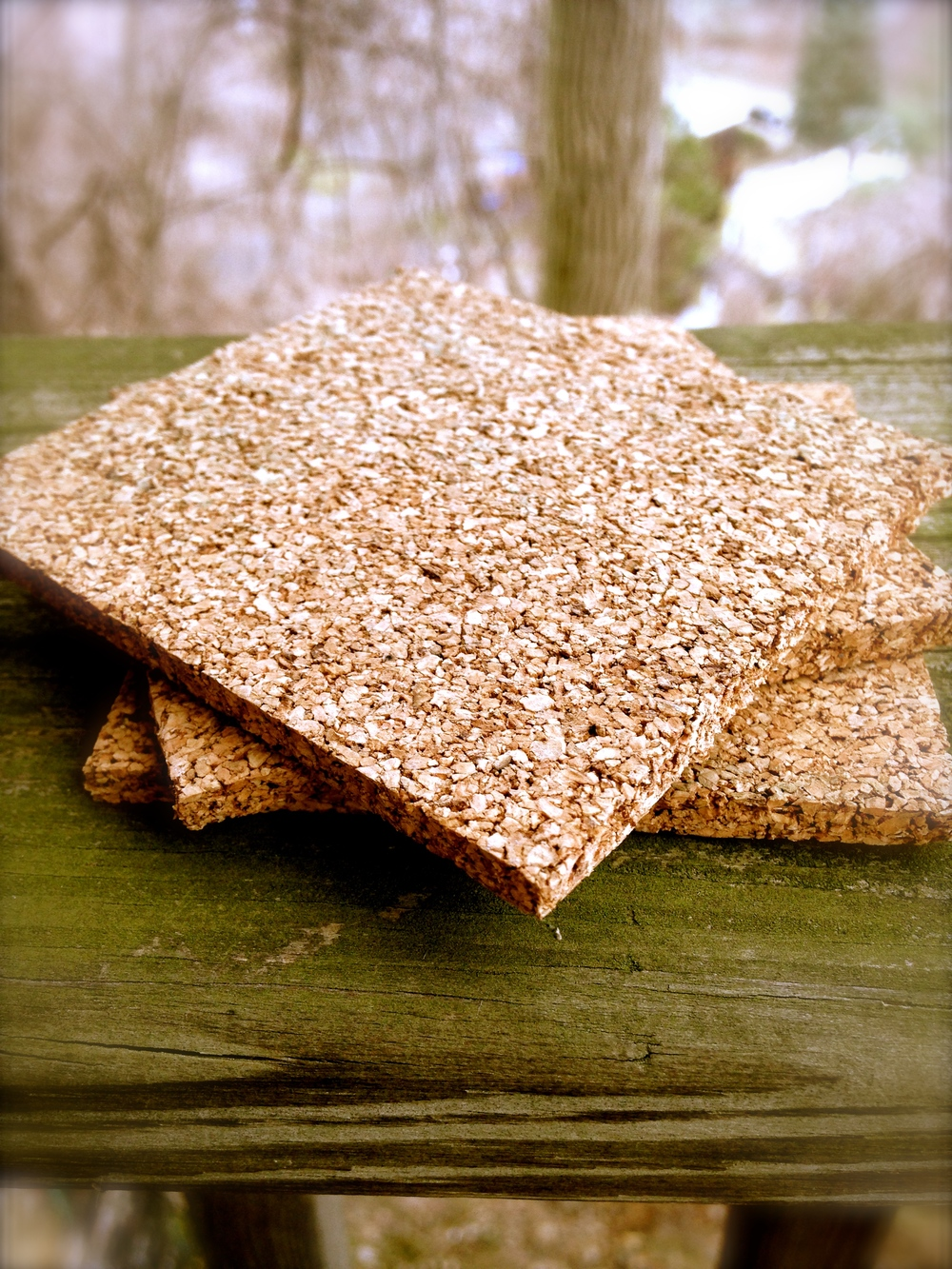 Coasters, or beermats, made of cork