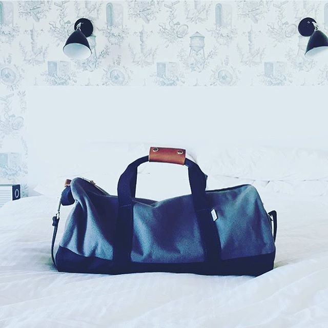 Looks like it was a nice weekend @wythehotel with @surveyor.hotel @ellicott.co featuring our Grey duffel.