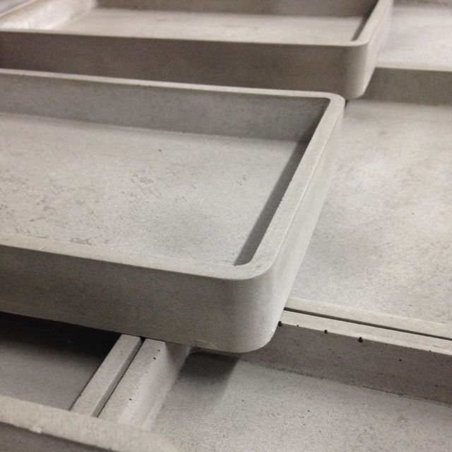 Concrete valet trays for days