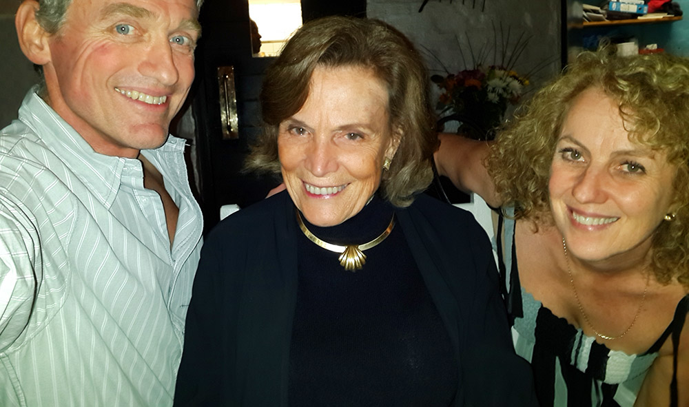 Dr Sylvia Earle with Barbara and Russ van Aardt.