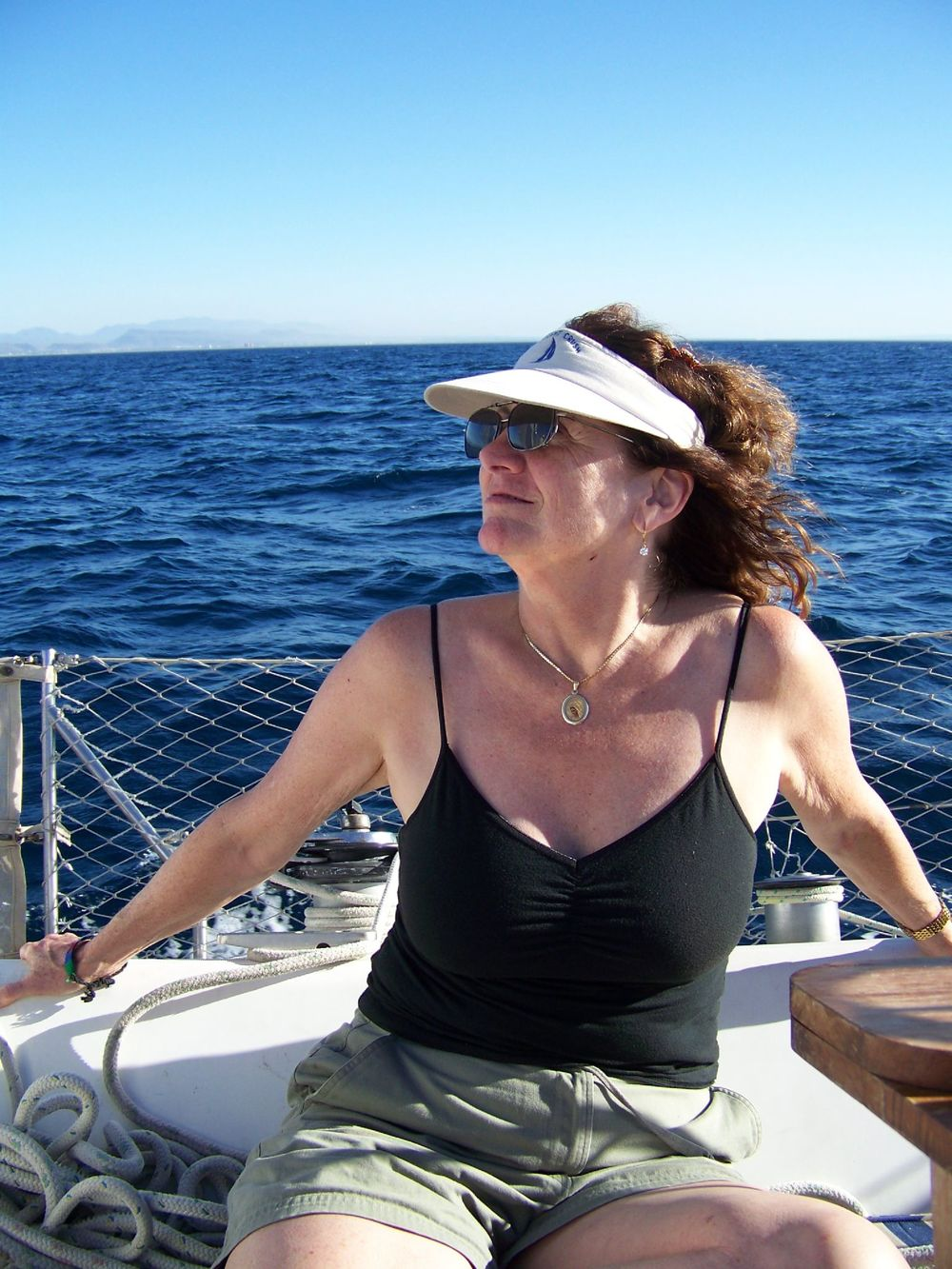 My Aunt Betty, on a sailboat in La Paz