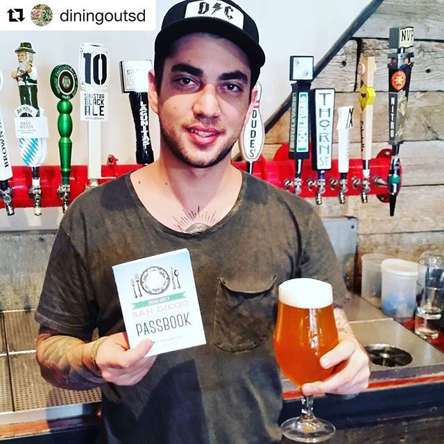 #Repost @diningoutsd ・・・ It is Friday u need a cold #sdbeer  @saltandcleaver in #Hillcrest! Check out our Facebook for details on our new #passbooksd including our special introductory code for a deal for our #hungry followers! #yum #foodninja #sodamngood #wow #visitca #igerssandiego #latergram #youstayhungrysd #igerssandiego