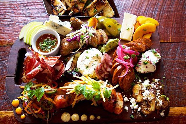 Our famous Meat & Cheese board. When you wanna try just a little bite of everything.