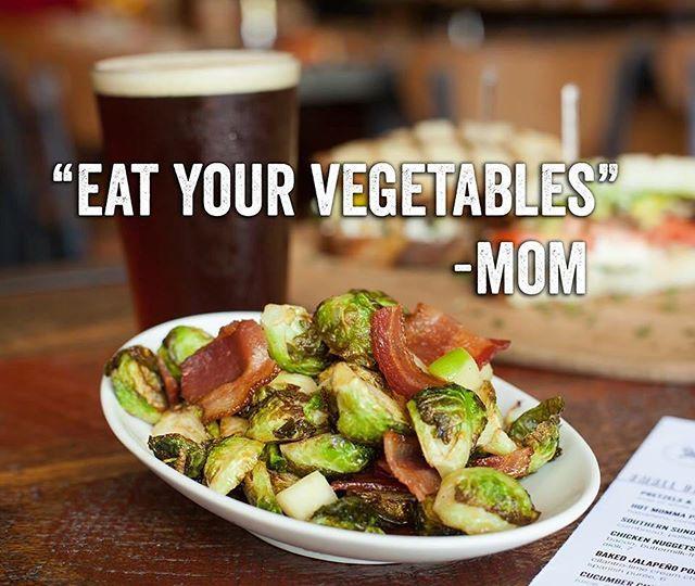 Bacon & Brussels. #saltandcleaver #sandiego #california #food #veggies