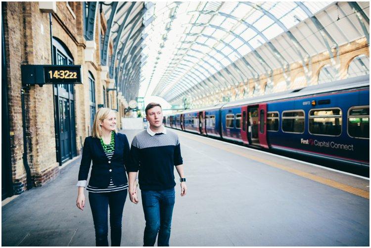 London Engagement Shoot St Pancras & Kings Cross Station