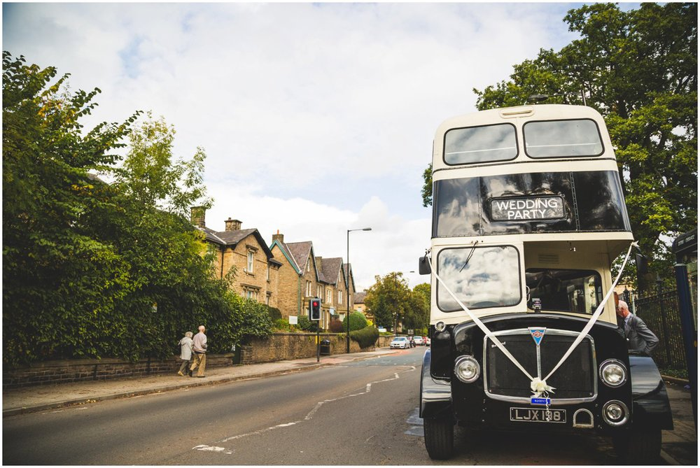 Vintage Wedding Double Decker Bus