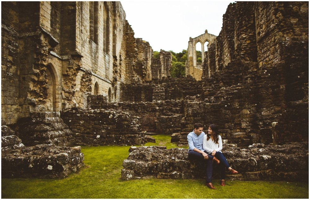 Rievaulx Abbey In Helmsley Engagement Photography_0007.jpg