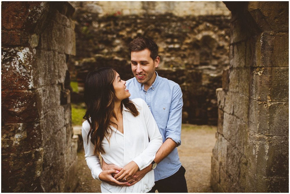 Rievaulx Abbey In Helmsley Engagement Photography_0011.jpg