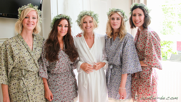 Gemma and her Bridemaids