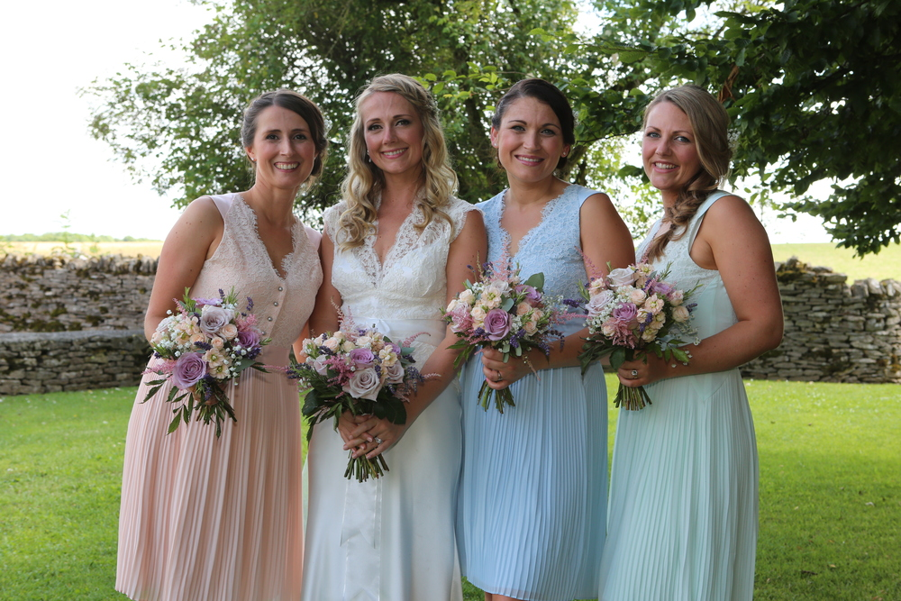 Helen and Bridesmaids - July 2015