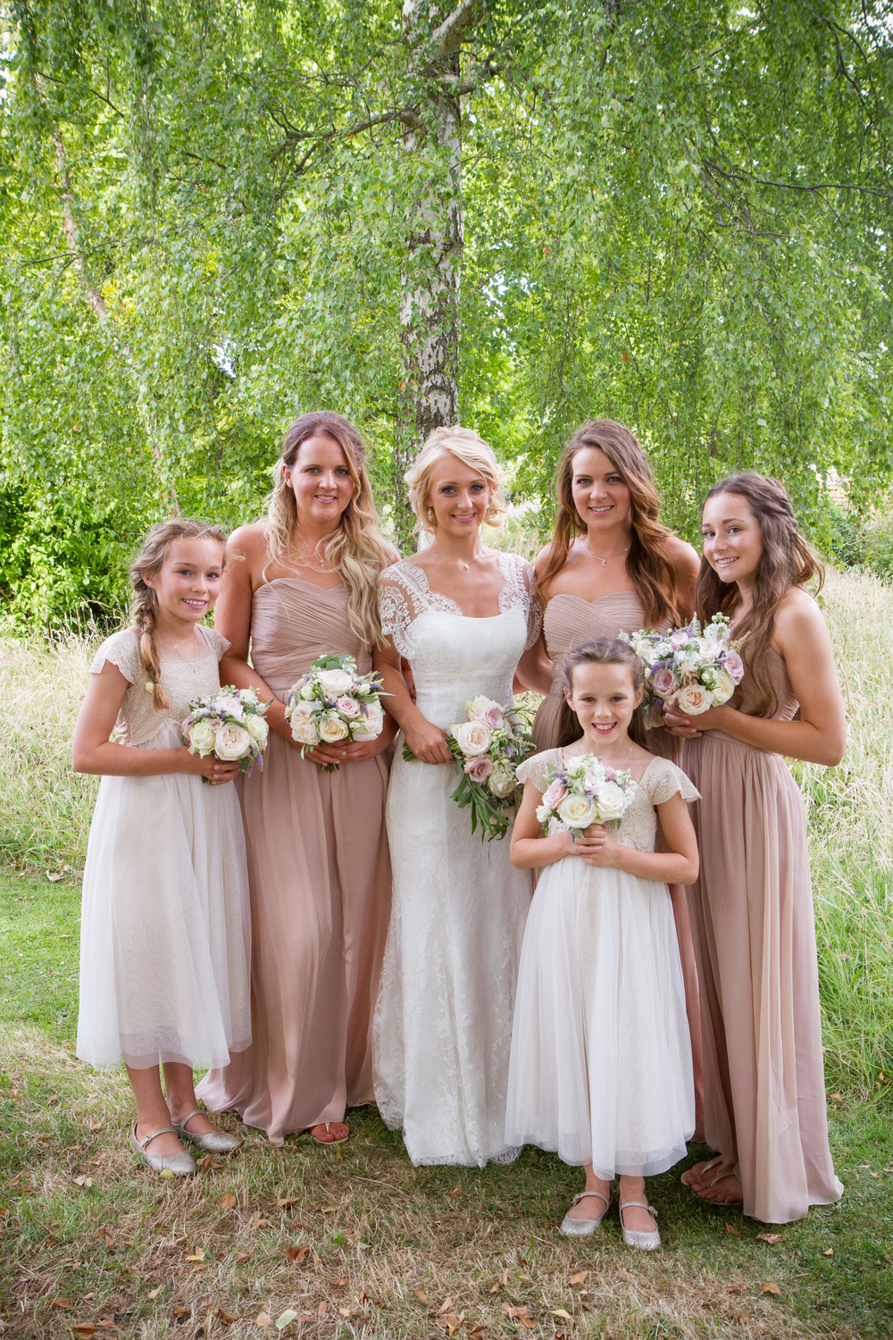 Emily and her bridesmaids - July 2016