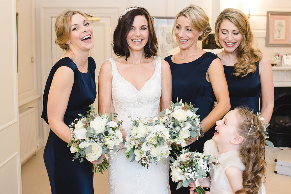 Louise and her bridesmaids - December 2016