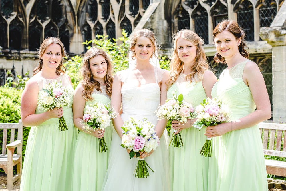 Caryn and her bridesmaids - June 2015