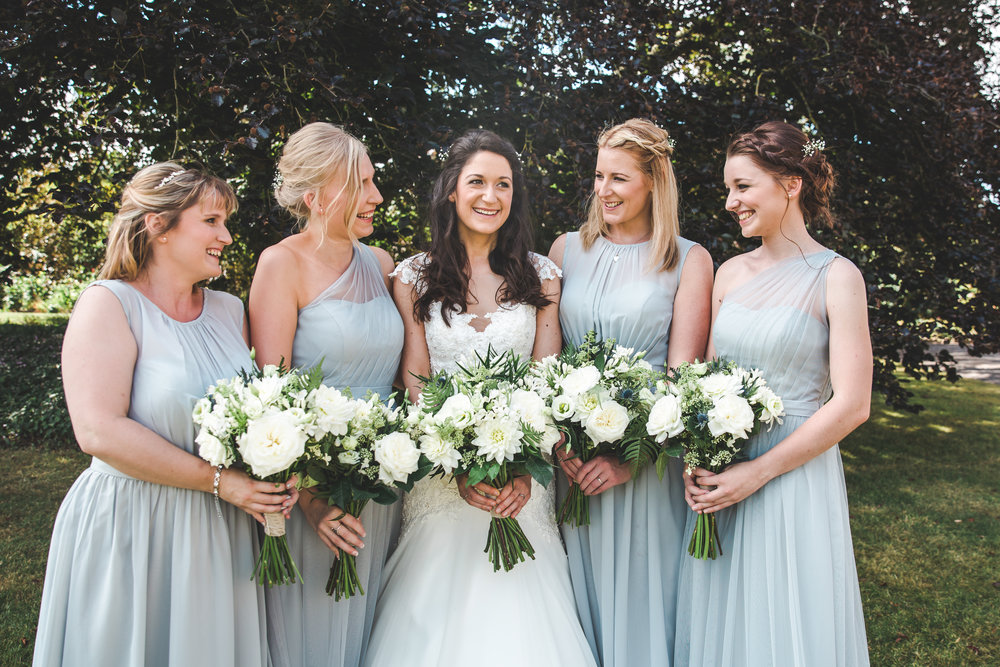 Natalie and her bridesmaids - August 2016