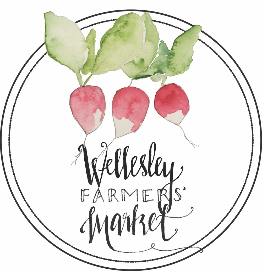 Logo for Wellesely Farmers Market, 2014- in collaboration with Bridget Banta