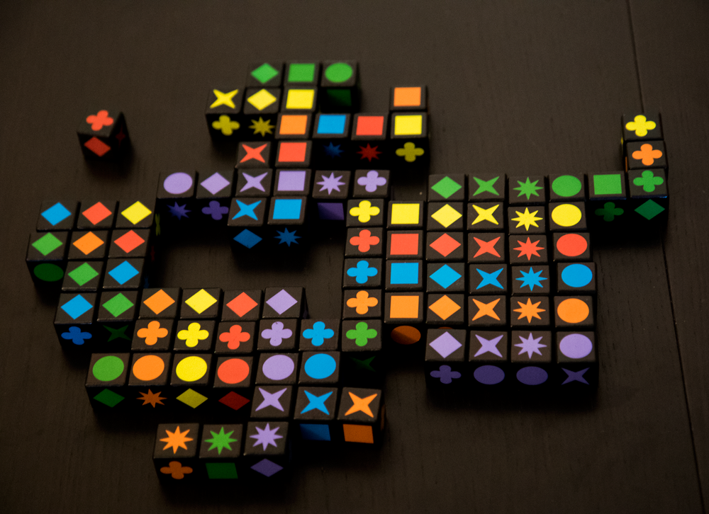 The pre-adamcon Qwirkle cubes throwdown