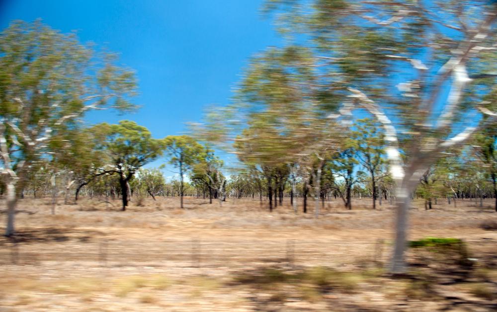 Riding the Greyhound. Middle of Nowhere, Australia. November 2012