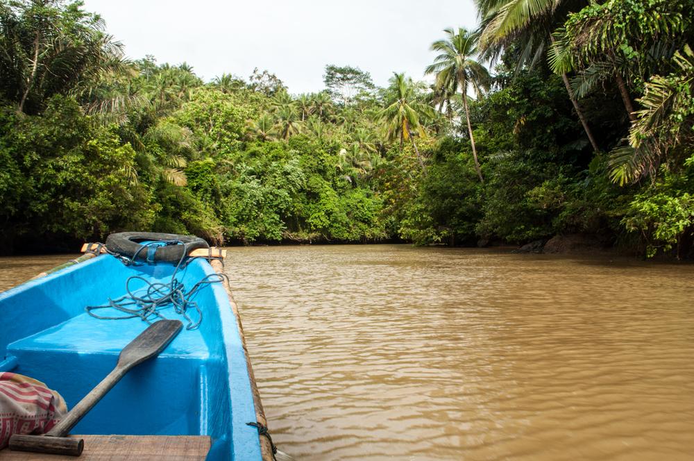 Going to Green Canyon, Pangandaran, Java, Indonesia. December 2012