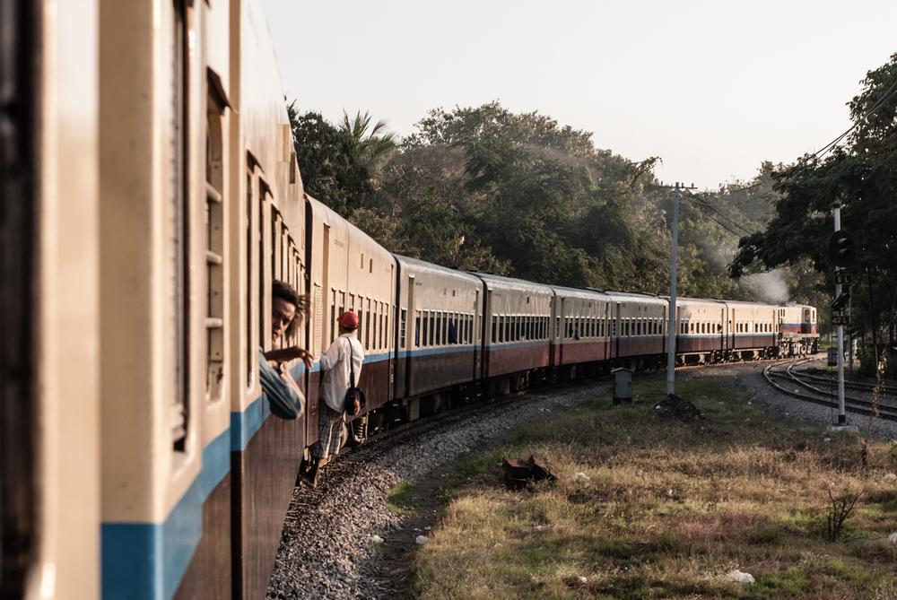 Railroads to Kalaw, Myanmar. January 2013