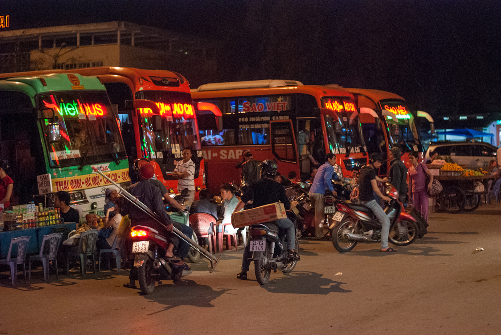Night-riding the sleeper buses. Sapa, Vietnam. March 2013